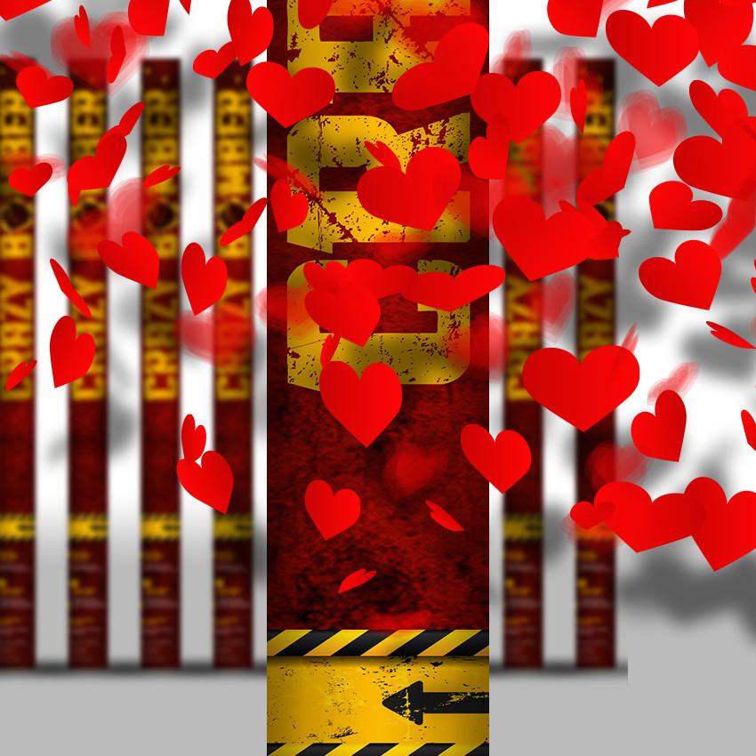 Konfettikanone Hochzeit  Konfettikanone Hochzeit Valentinstag Liebe Rote Herzen