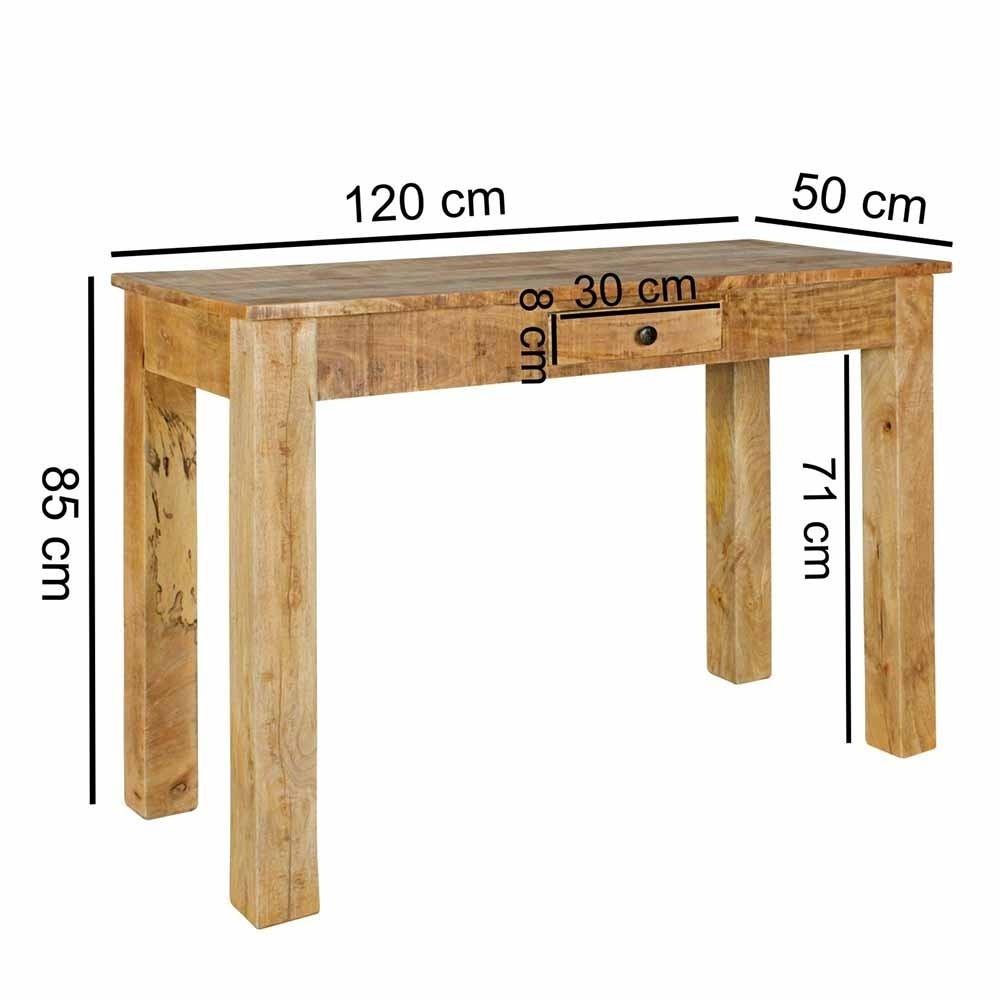 Konsole Landhaus  Landhaus Tisch Konsole im Stil rustikal Recers
