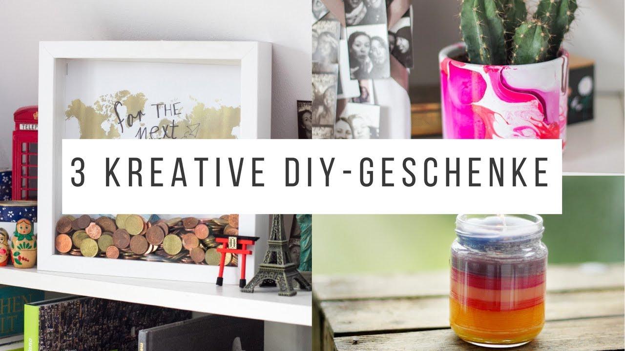 Kreative Geschenke  3 kreative DIY Geschenke für Weihnachten