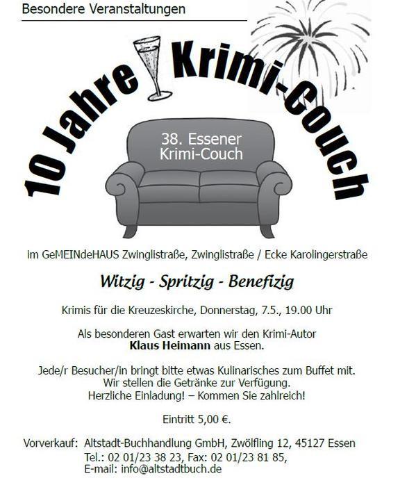 Krimi Couch  Chronik der Essener Krimi Couch
