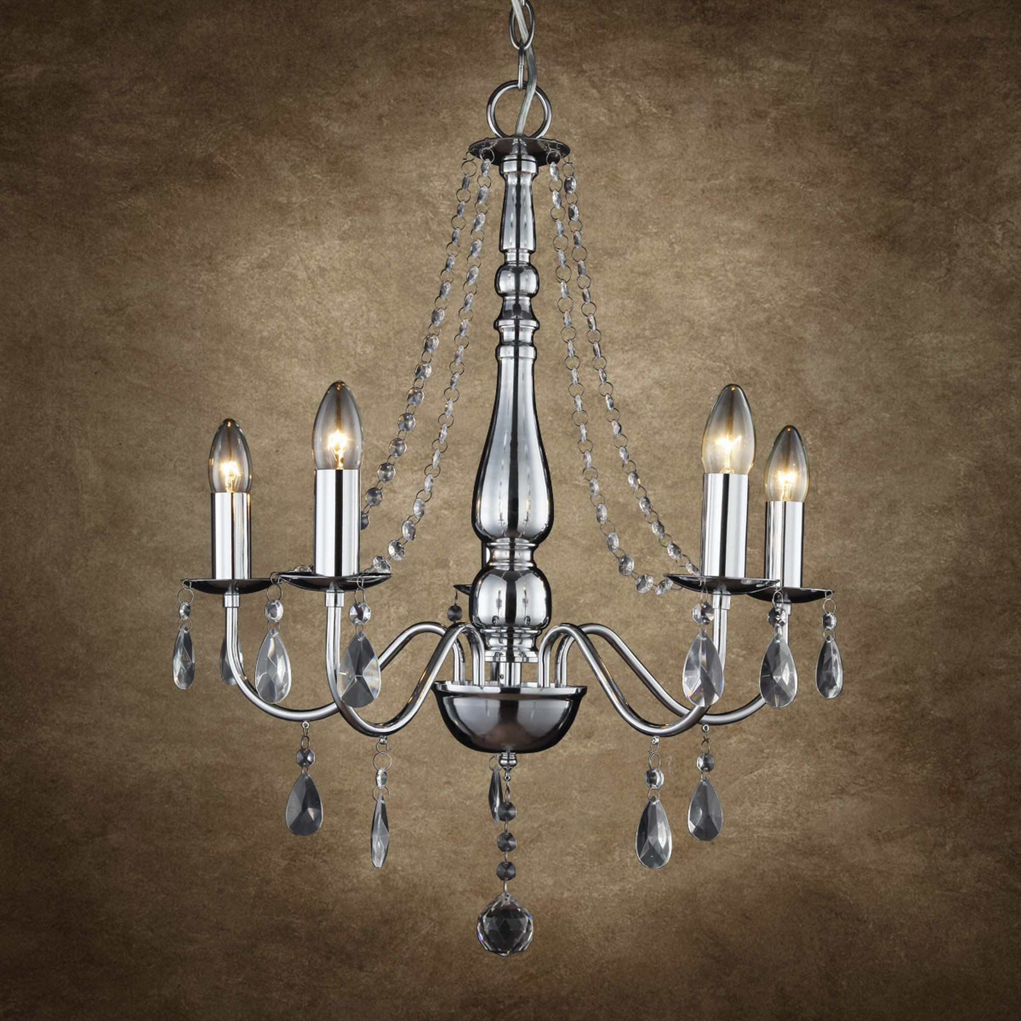 Kronleuchter Ebay  Eleganter Kristall Chrom Kronleuchter Lüster