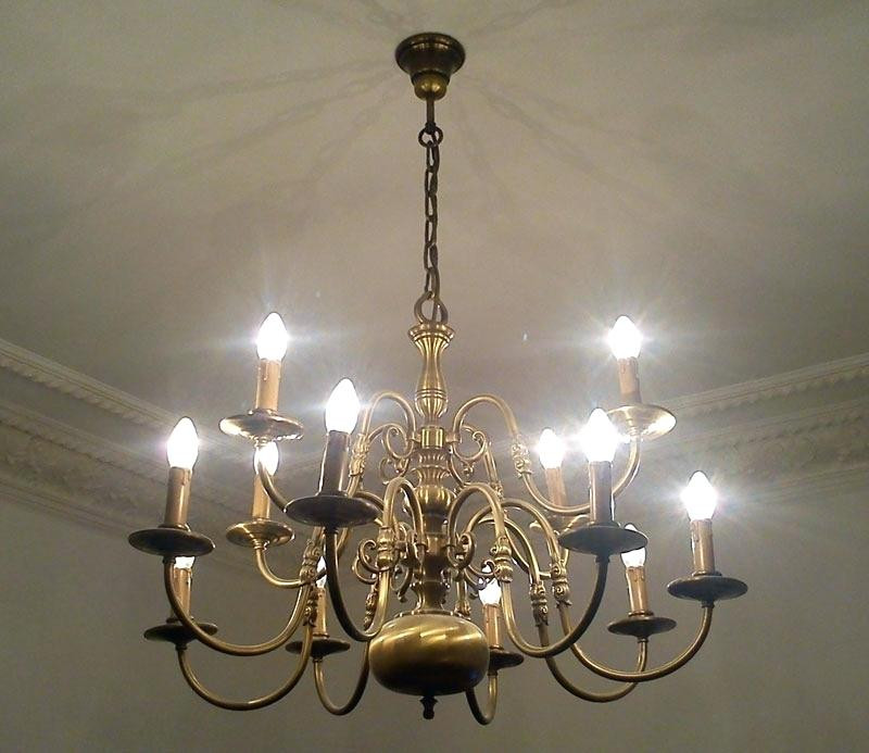 Kronleuchter Ebay  Wandleuchter Wandlampe Messing Barock Antik Glas Ageag0541