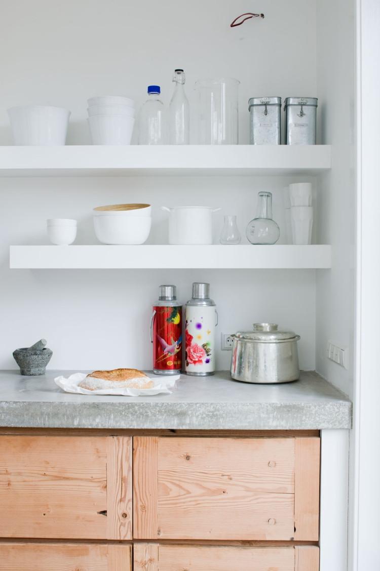 Küche Arbeitsplatte  Arbeitsplatte aus Beton 30 Ideen für Oberfläche in der Küche