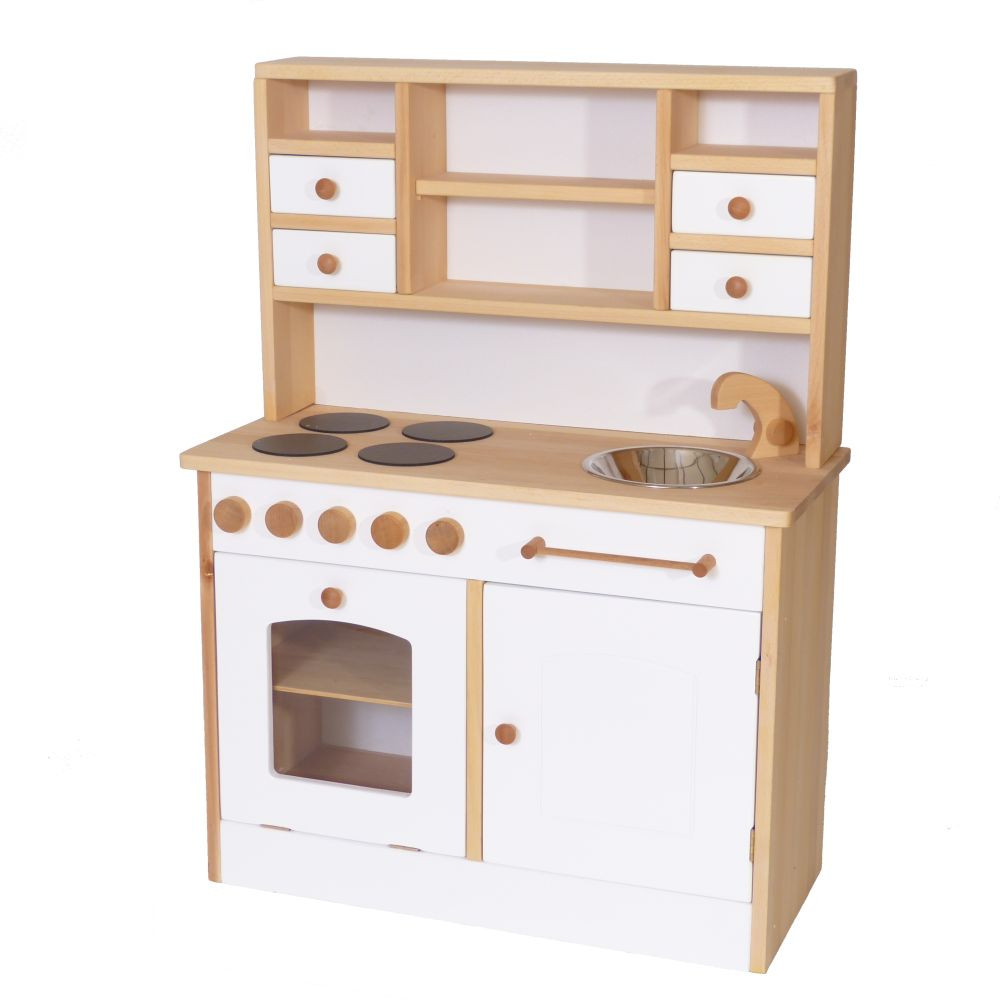 Küche Kinder  Weiße Kinder Küche aus Holz