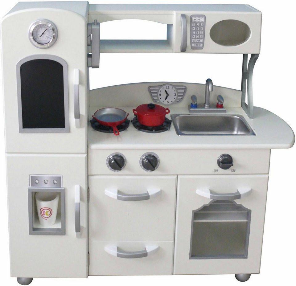 Küche Kinder  TEAMSON Kids Küche für Kinder Spielküche weiß