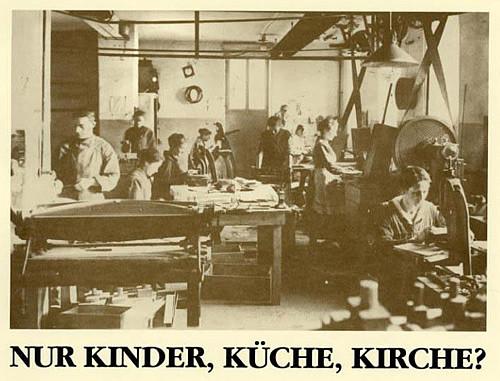 Küche Kinder  German Women and 3 K s
