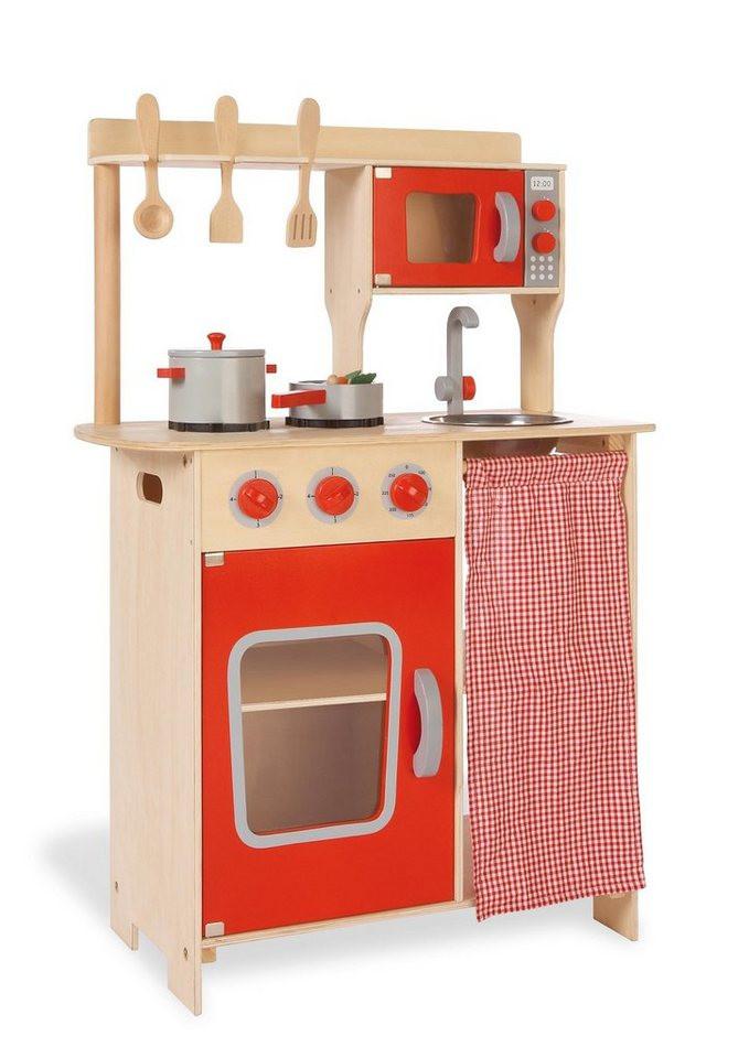 Küche Kinder  Pinolino Kinderküche aus Holz Kinder Kombi Küche Rike