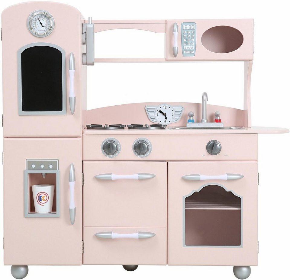 Küche Kinder  TEAMSON Kids Küche für Kinder Spielküche pink