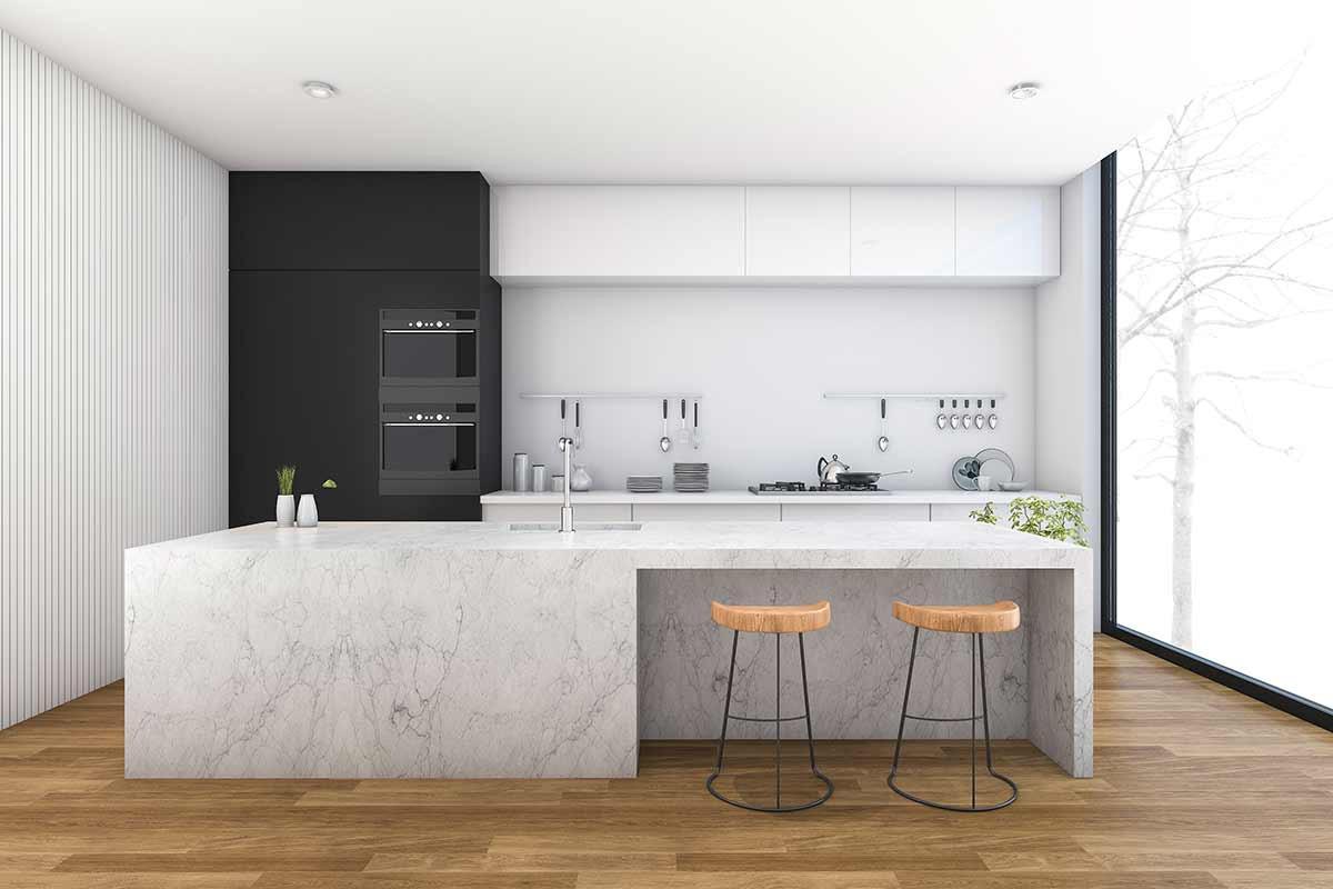 Küche Mit Kochinsel  Küche mit Kochinsel und Küchenbar