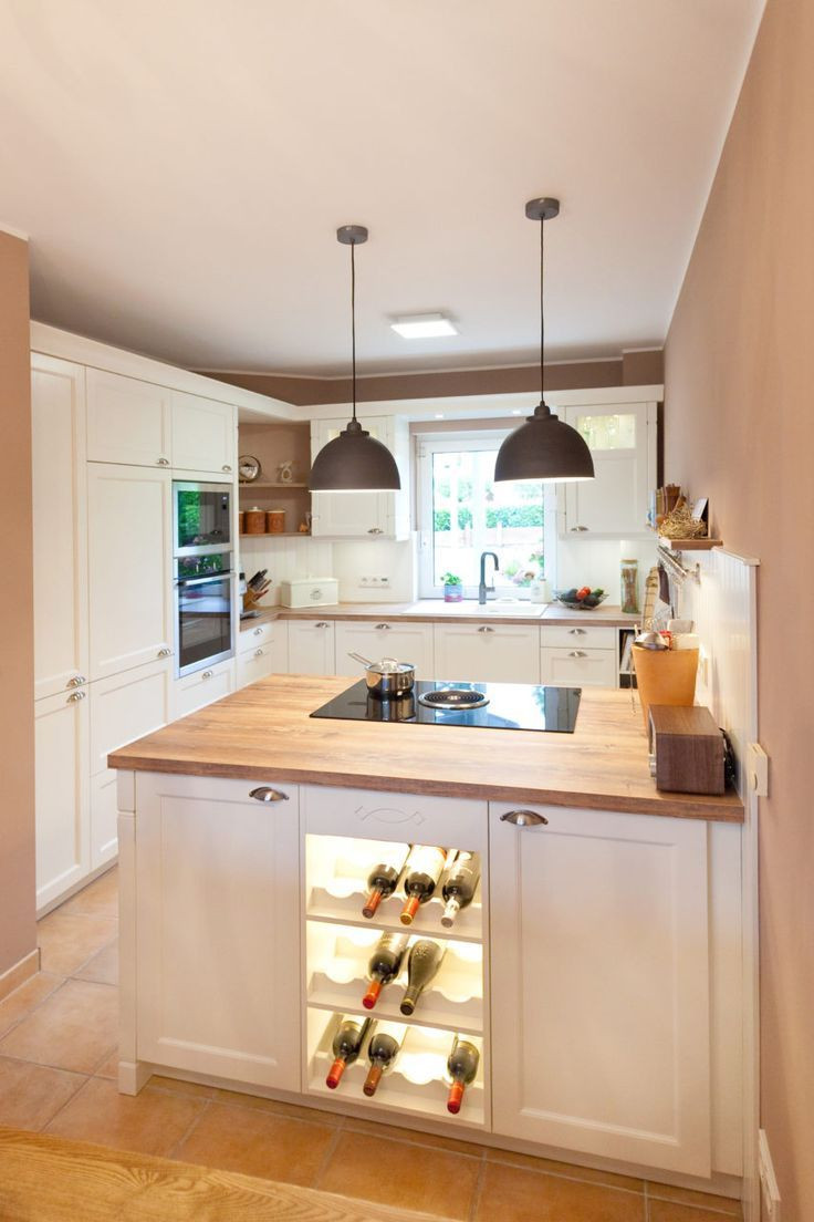 Küche Mit Kochinsel  Moderne Landhauskueche Weiß Klassisch Holz Kueche