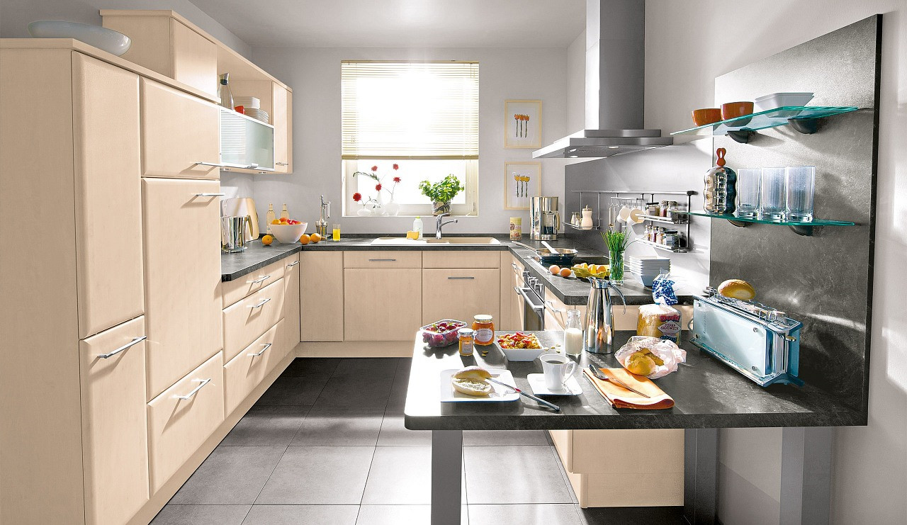 Küche Quelle  Classic Einbauküche Mandara Birke Küchen Quelle