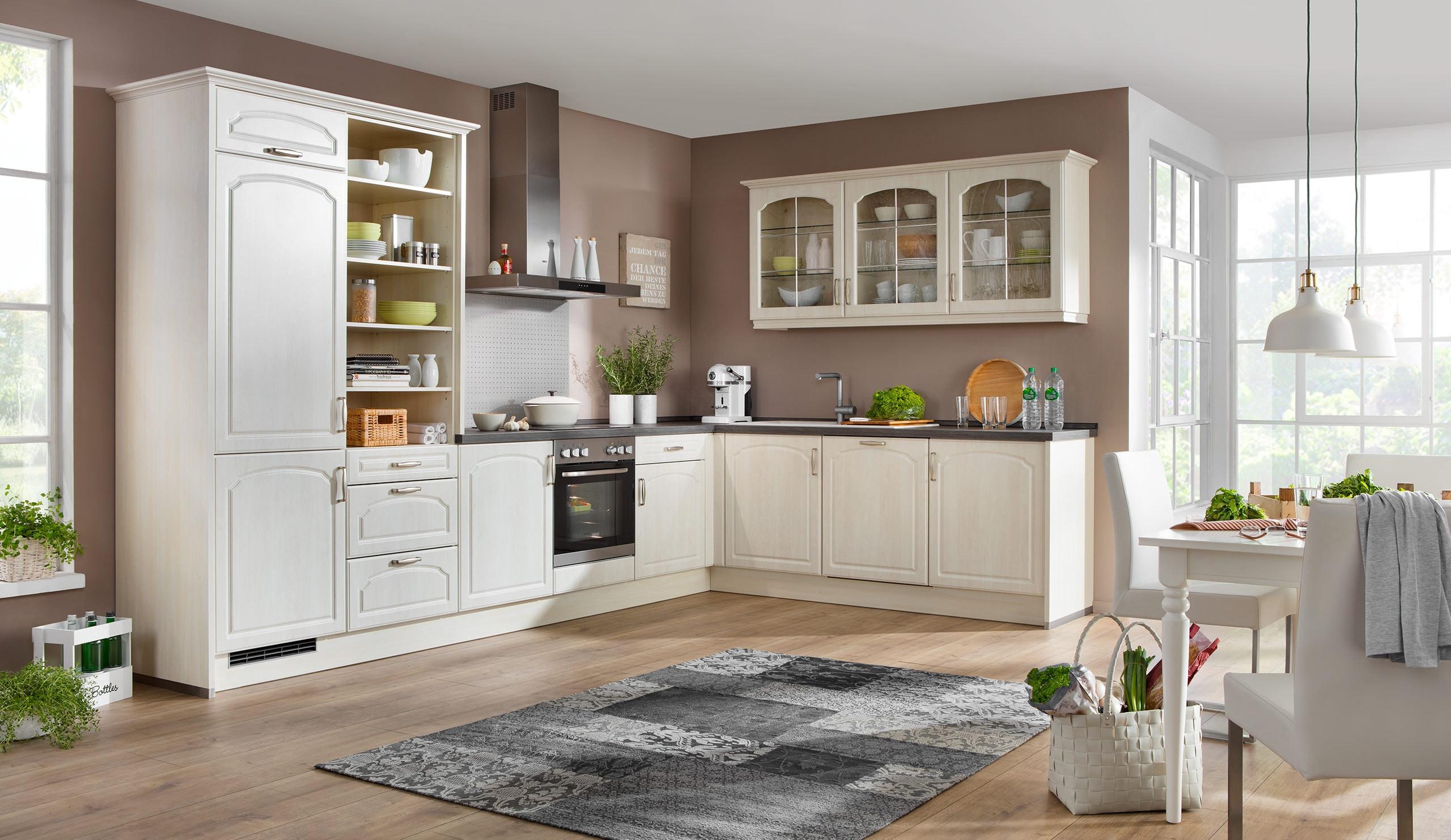 Küche Quelle  Landhaus Einbauküche Leriella Linde Stichbogen Küchen Quelle