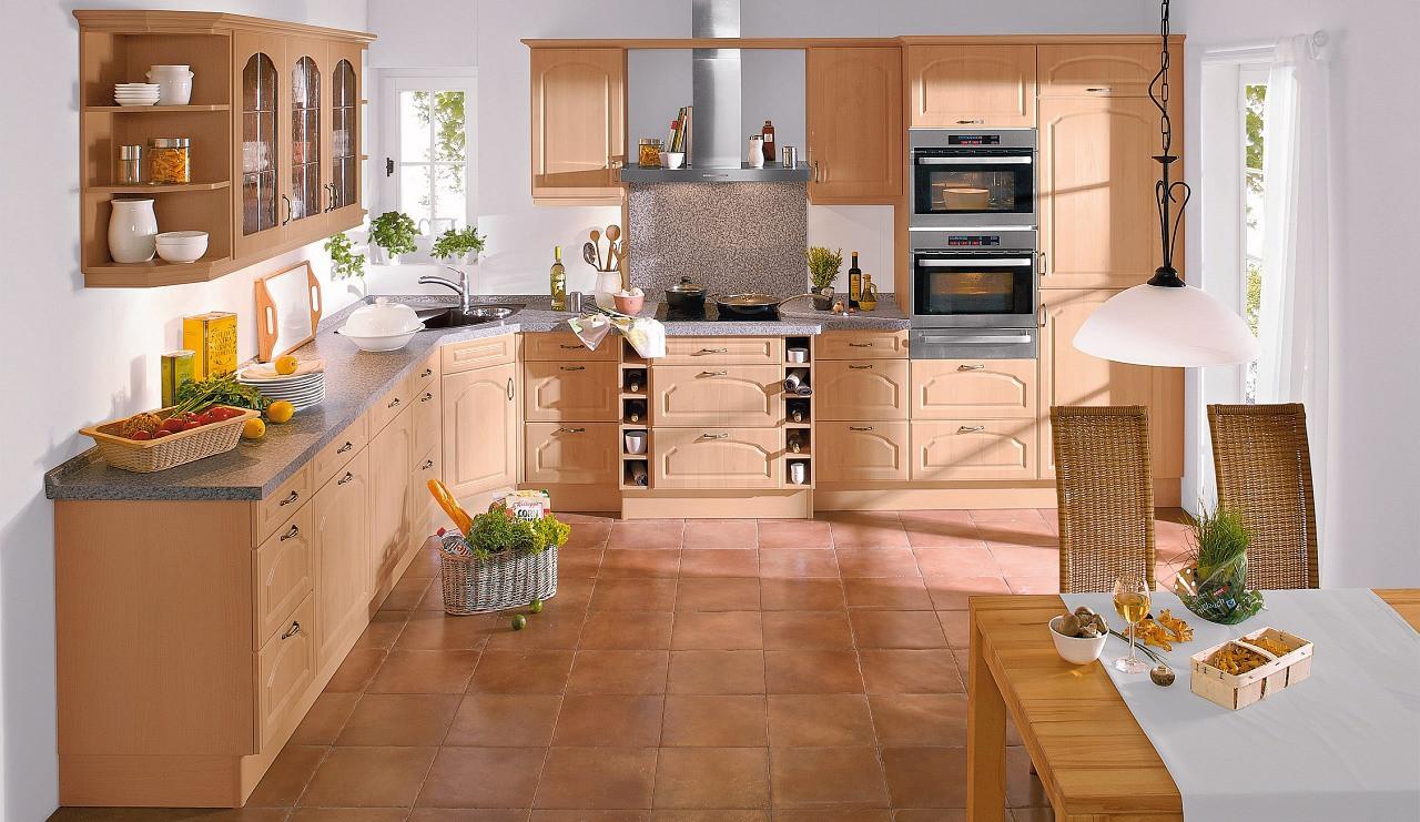 Küche Quelle  Landhaus Einbauküche Leriella Wildbirne Stichbogen