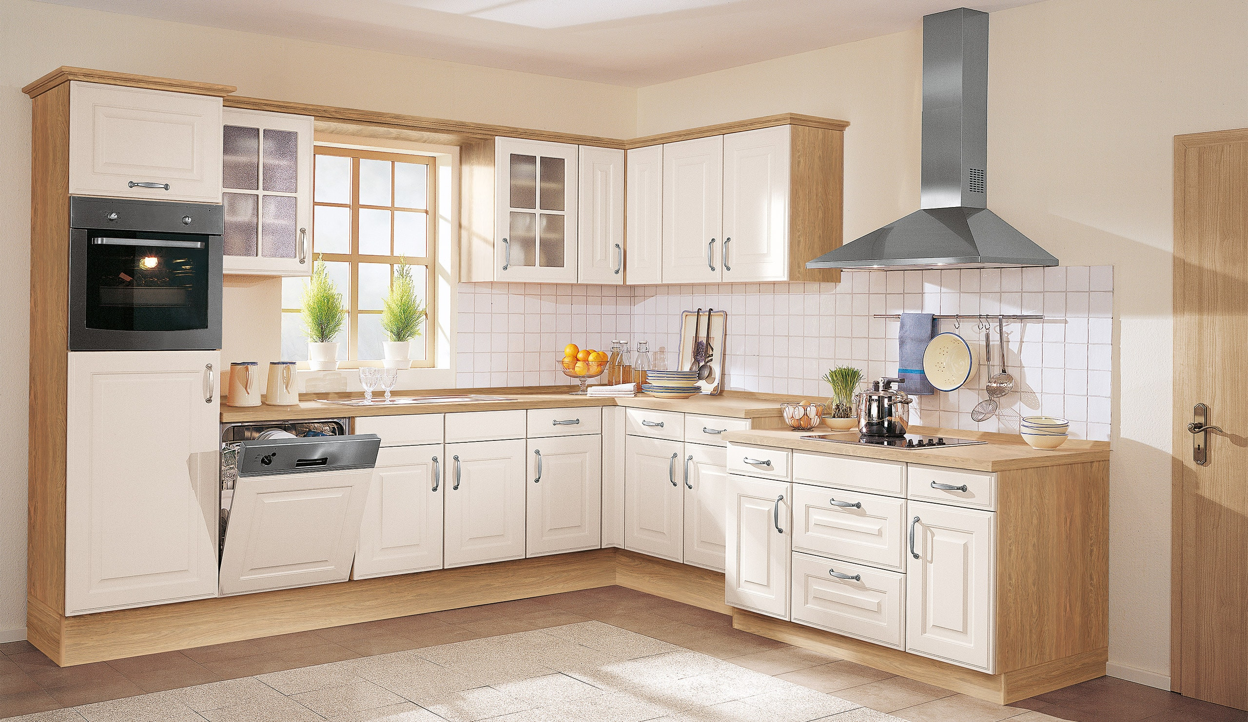 Küche Quelle  Landhaus Einbauküche Wermona 4428 Magnolienweiss Küchen