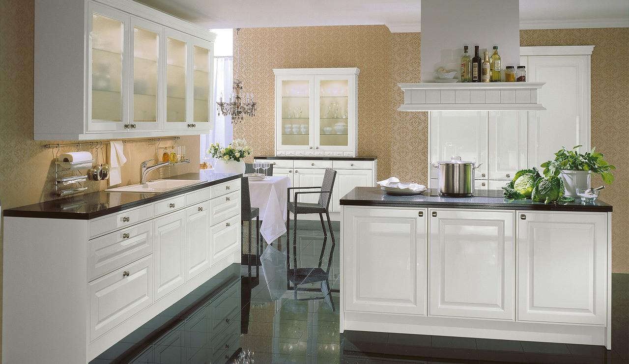 Küche Quelle  Landhaus Einbauküche Citrin Weiss Hochglanz Küchen Quelle