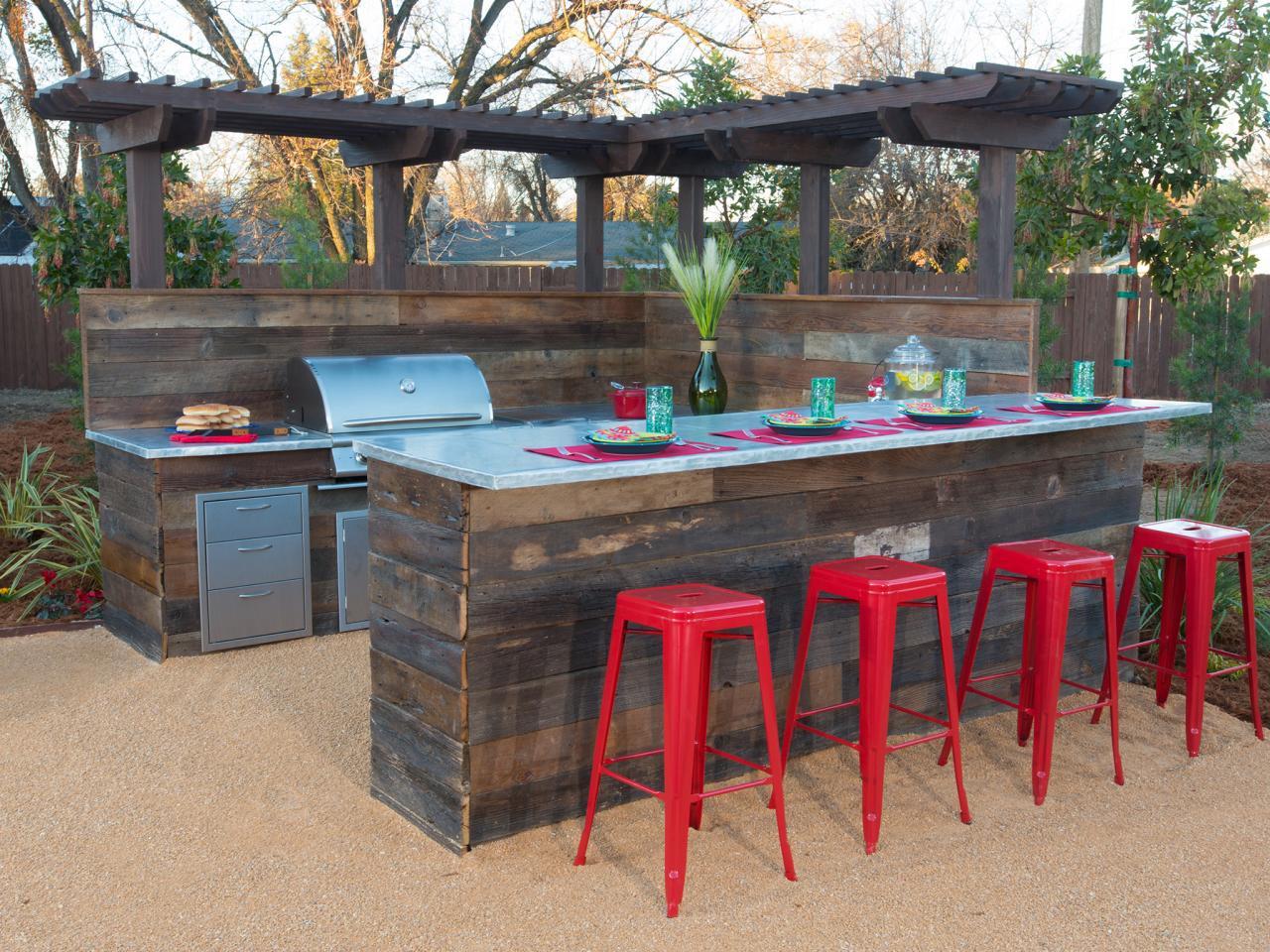 Küche Selber Bauen  Garten Bar mit Küche selber bauen fresHouse