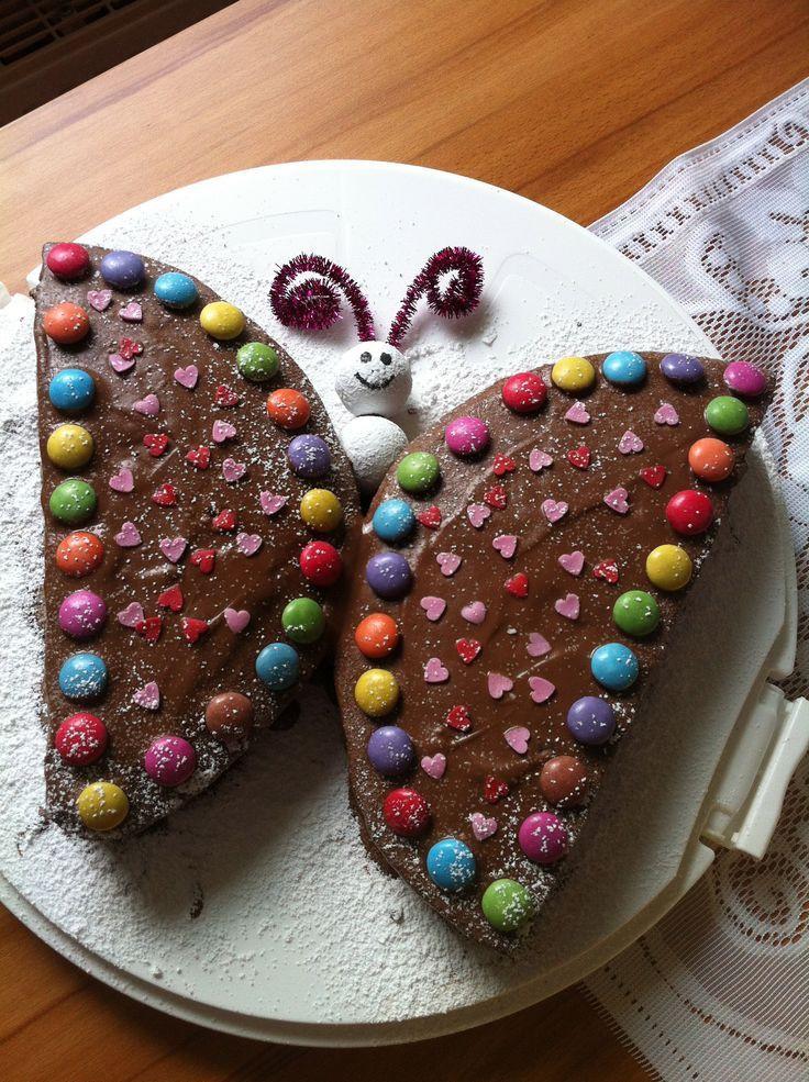 Kuchen Für Kindergeburtstag  Schmetterling Kuchen Kindergeburtstag