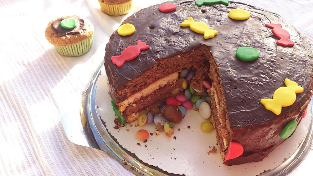 Kuchen Für Kindergeburtstag  Pinata Kuchen Rezept für den Kindergeburtstag