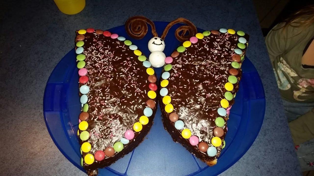 Kuchen Für Kindergeburtstag  Schmetterlingskuchen Kindergeburtstag