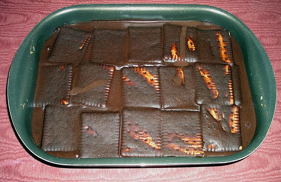 Kuchen Ohne Eier  Kalter Hund Schoko Keks Kuchen ohne Eier Rezept mit