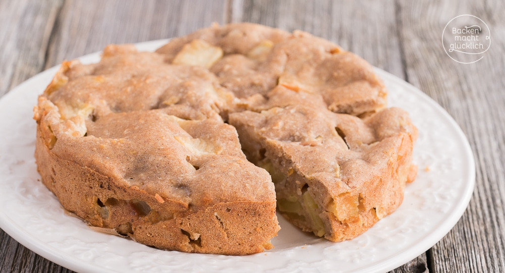 Kuchen Ohne Zucker  Apfelkuchen ohne Zucker Butter Ei