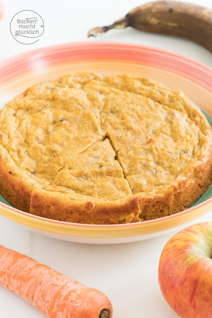 Kuchen Ohne Zucker  Apfel Möhren Kuchen ohne Zucker