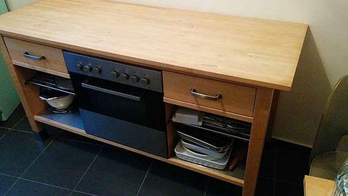 Küchenblock Ikea  Küchenblock freistehend inklusive Backofen in 1050 Wien