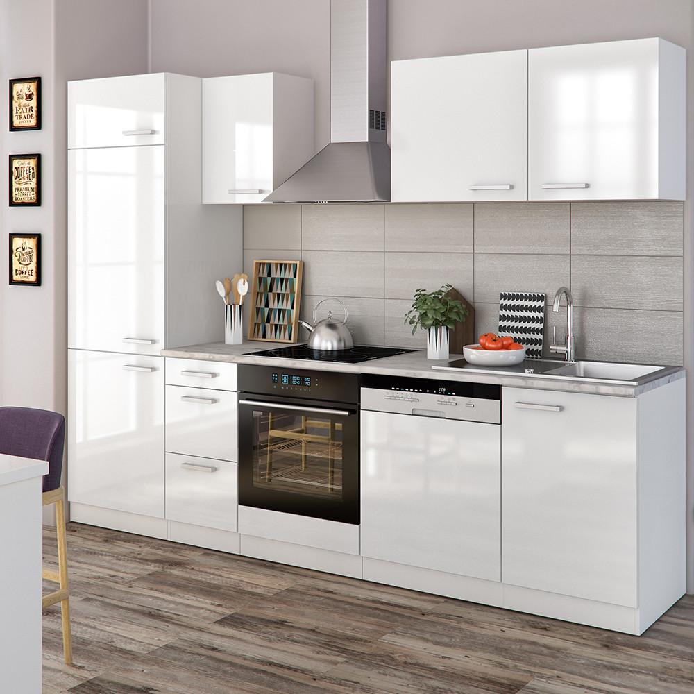 Küchenblock Ikea  Vicco Küche 270 cm Küchenzeile Küchenblock