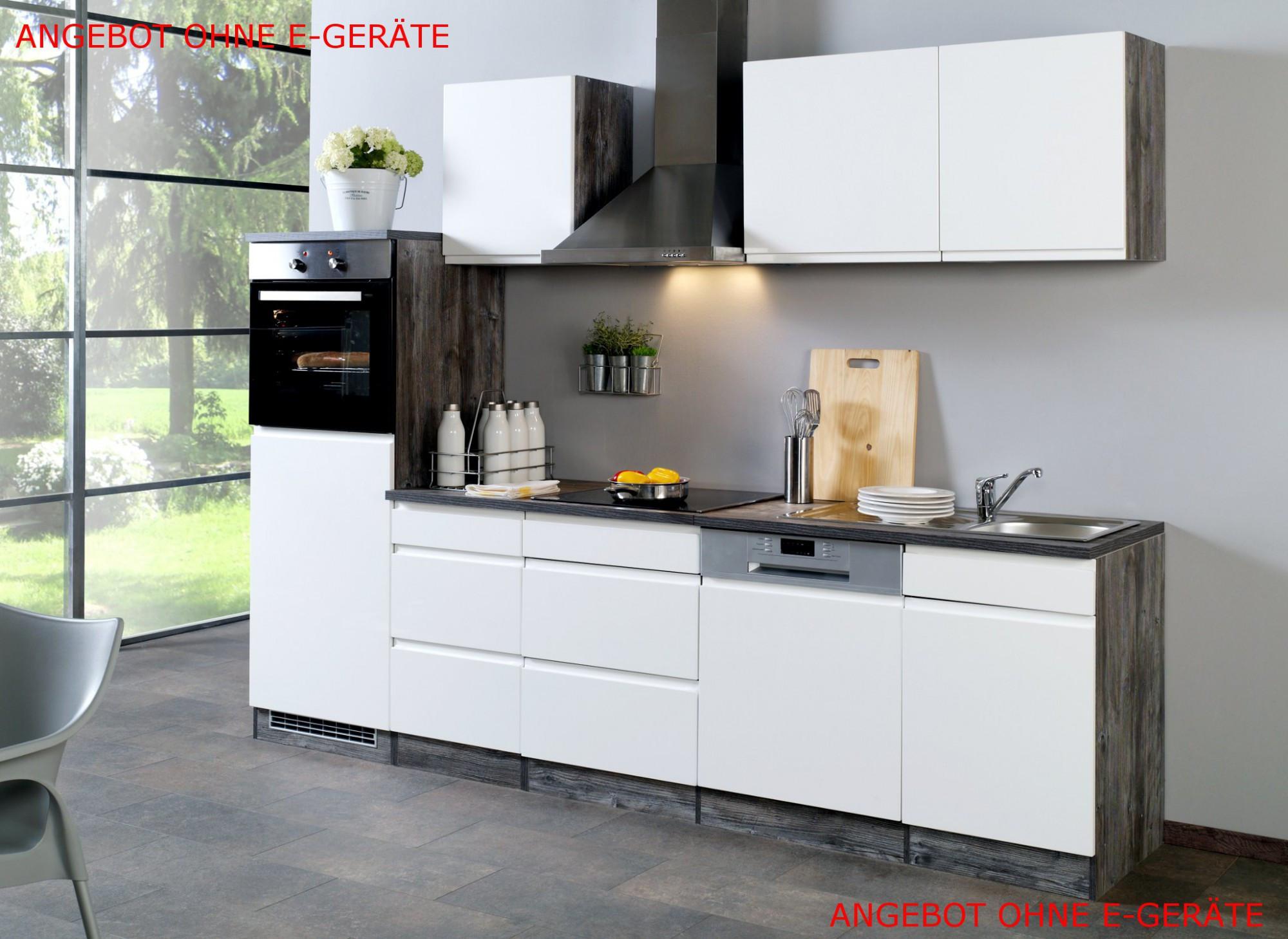 Küchenzeile Günstig  Küchenzeile CARDIFF Küchen Leerblock Breite 280 cm
