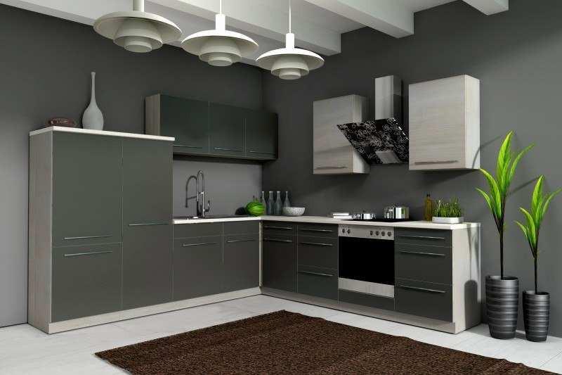 Küchenzeile Günstig  Kuechenzeile Guenstig Wunderbar Küche sophie 280x270 Cm