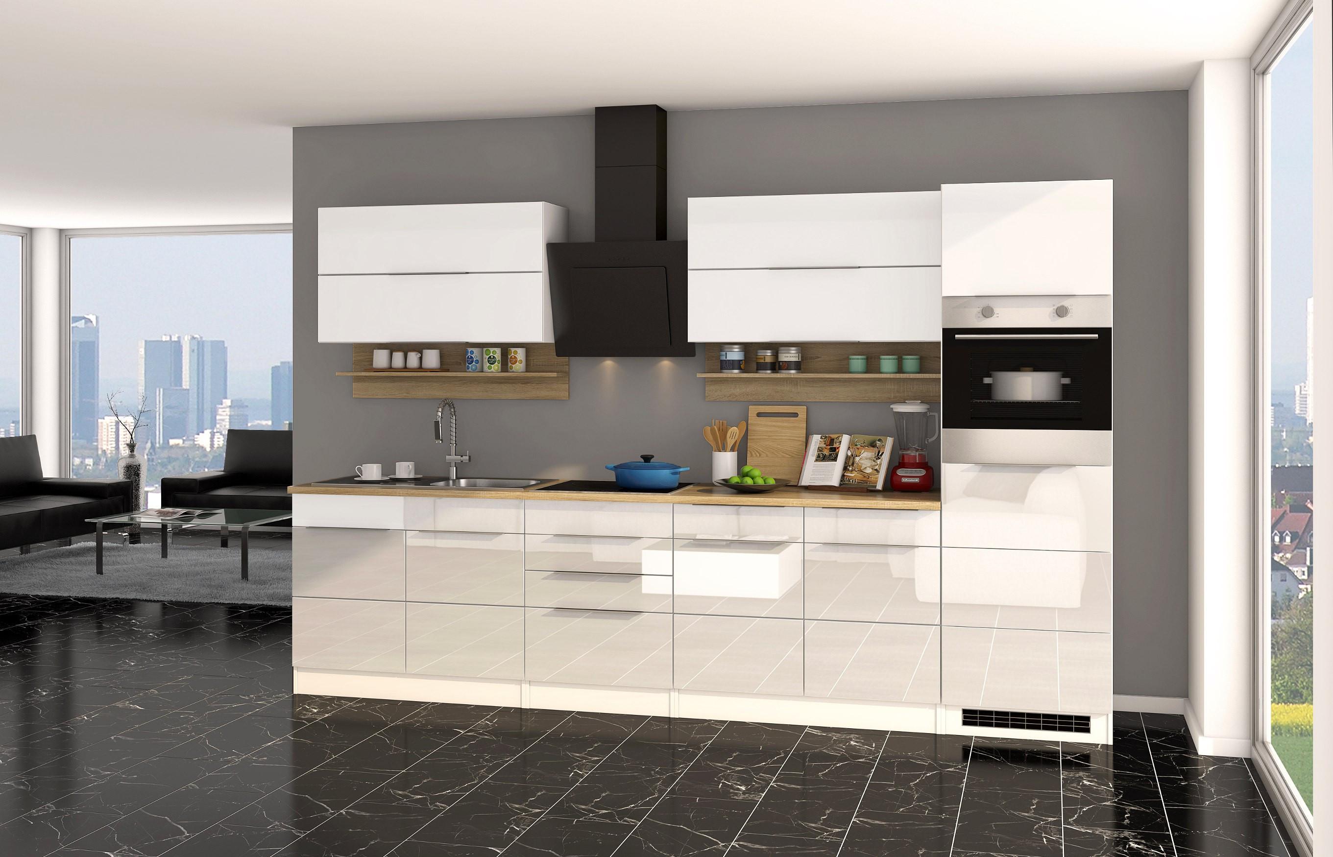 Küchenzeile Günstig  Küchenzeile HAMBURG Küche mit E Geräten Breite 320 cm