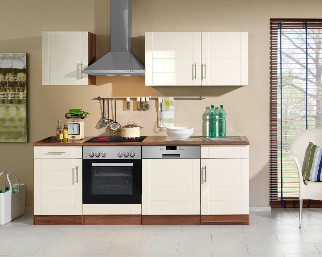 Küchenzeile Günstig  Küchenzeile NEVADA Küche mit E Geräten Breite 220 cm