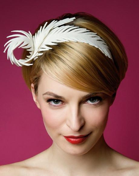 Kurze Haare Hochzeit  Kopfschmuck braut kurze haare