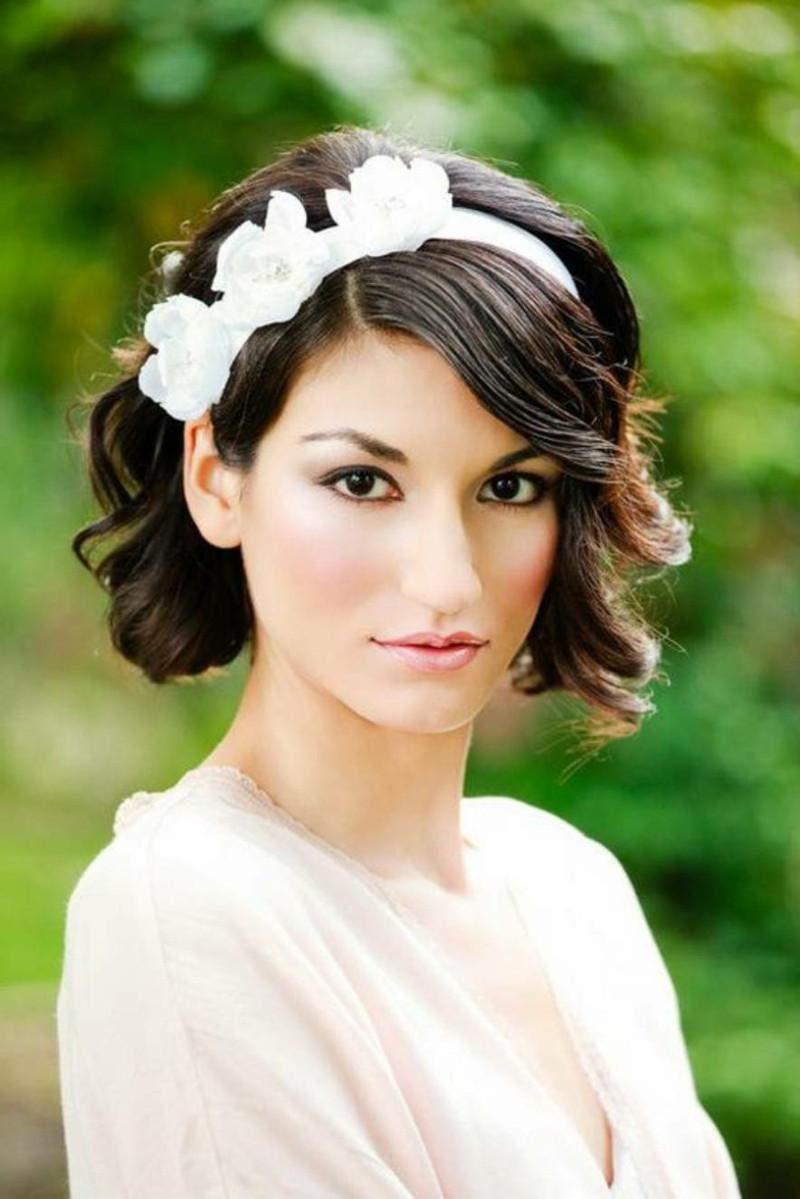 Kurze Haare Hochzeit  1001 Ideen für Brautfrisuren offen halboffen oder