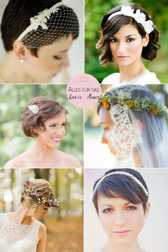 Kurze Haare Hochzeit  Braut Frisur Und Kurze Haare Ein Paar Styling Ideen