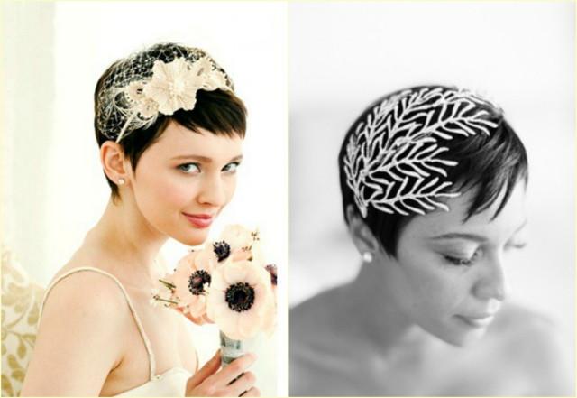 Kurze Haare Hochzeit  Hübsch verzierte Hochzeitsfrisuren für kurze Haare
