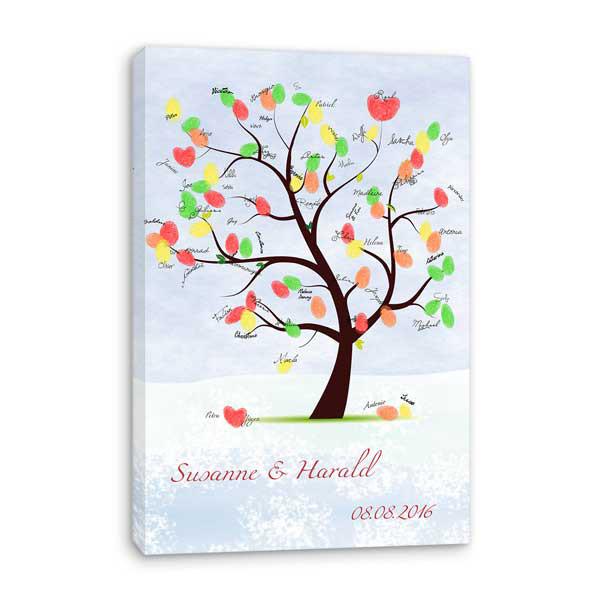 Kutscherspiel Hochzeit  wedding tree leinwand♥