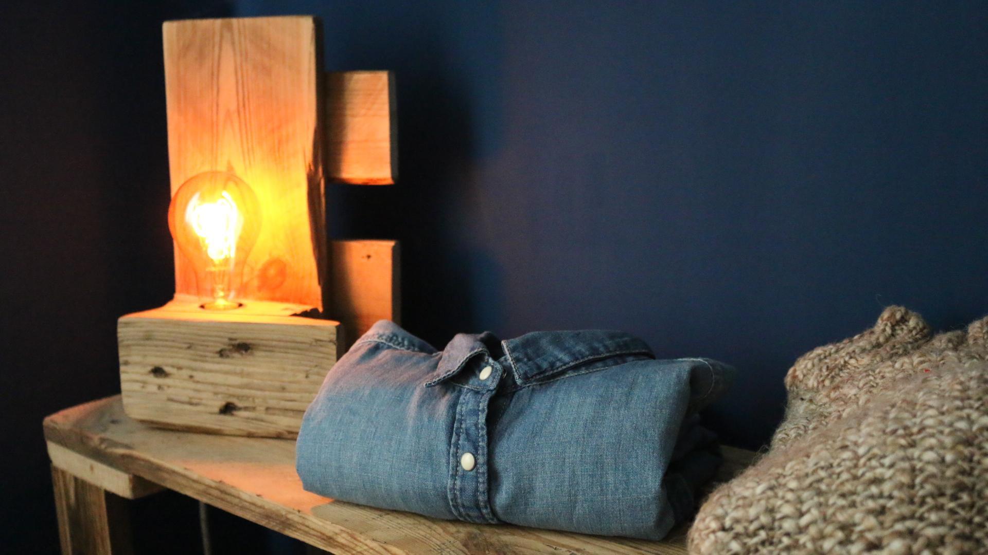 Lampe Selber Bauen  【 】 Lampe aus Paletten Vintage DIY Anleitungen