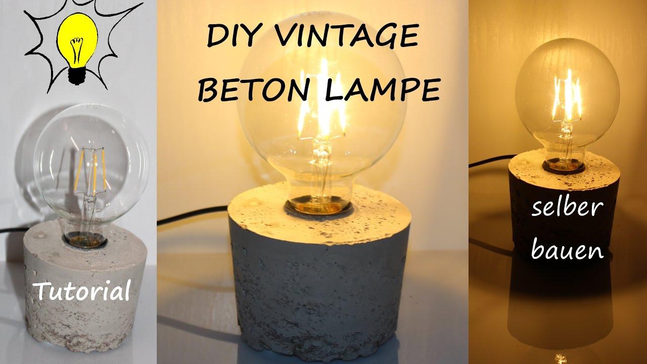 Lampe Selber Bauen  DIY DESIGNER VINTAGE BETON LAMPE SELBER BAUEN Tutorial