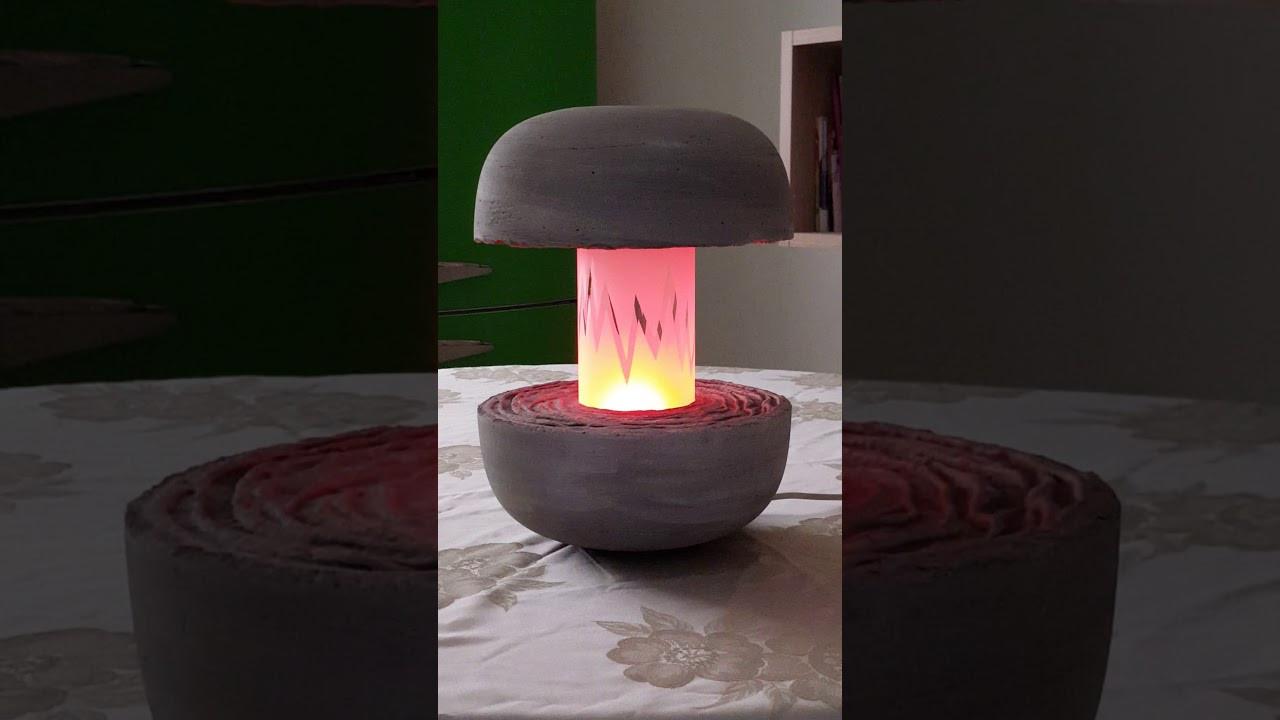 Lampe Selber Bauen  Beton Lampe selber bauen Nachttisch Lampe aus Beton