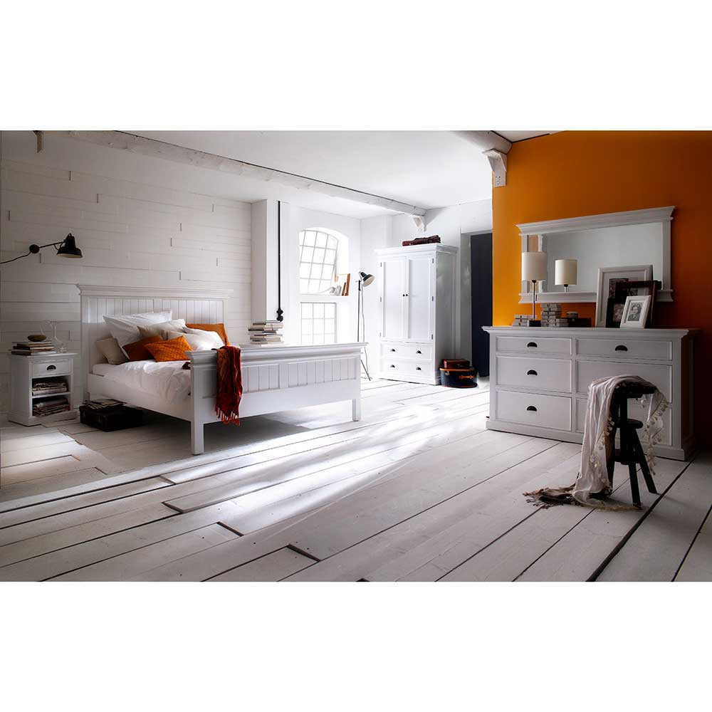 Landhaus Schlafzimmer  Landhaus Schlafzimmer Lacromas in Weiß komplett