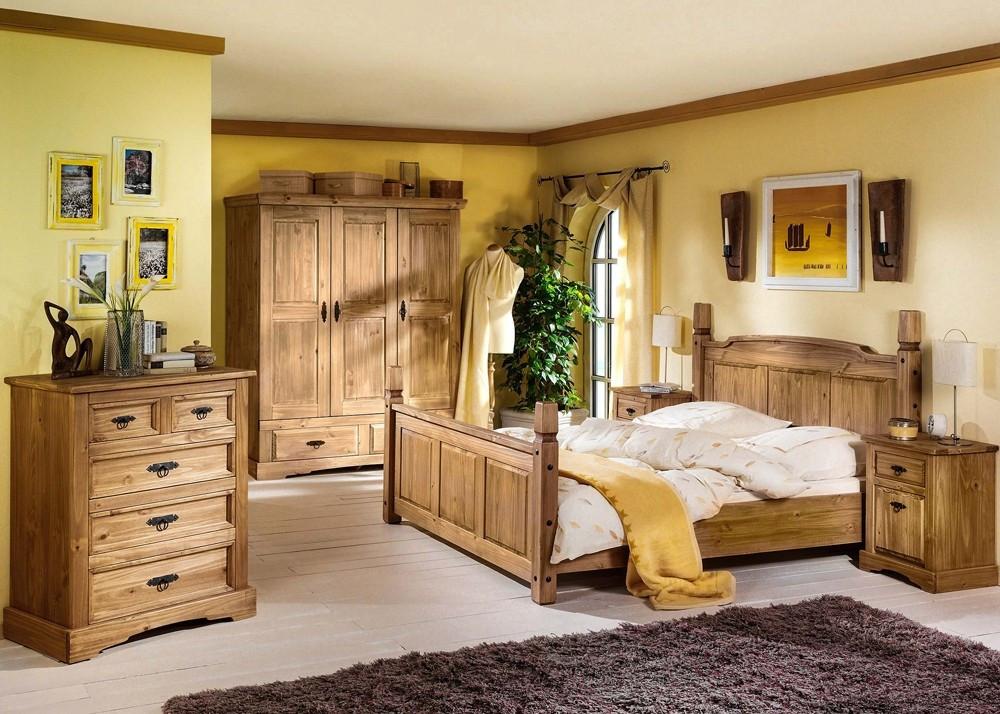 Landhaus Schlafzimmer  Landhaus Schlafzimmer Mexican Henke Möbel Kiefer Massiv