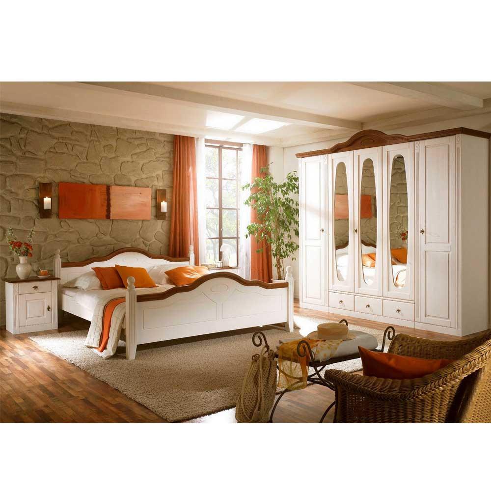 Landhaus Schlafzimmer  Komplett Landhaus Schlafzimmer Obus in Weiß