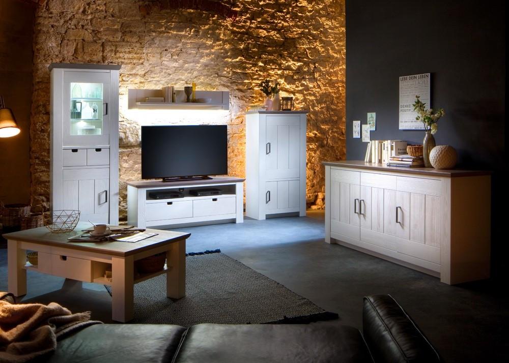 Landhausmöbel Wohnzimmer  Landhaus Wohnzimmer Einrichtung La Palma Massiv Holz