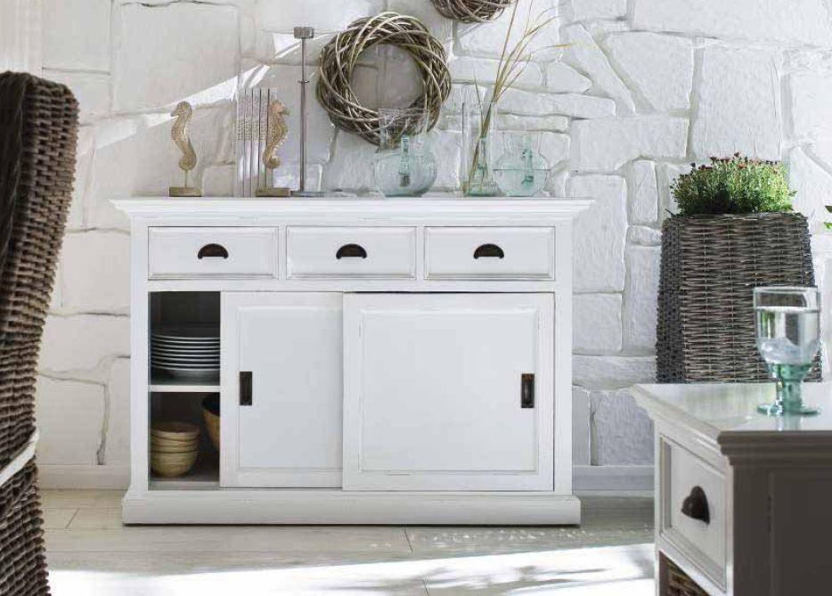 Landhausmöbel Wohnzimmer  Möbel weiß Halifax Landhausmöbel Kommode Anrichte