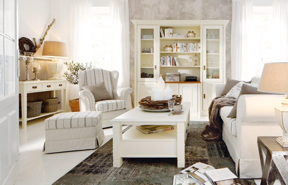 Landhausmöbel Wohnzimmer  Landhausmöbel DANSK design Massivholzmöbel