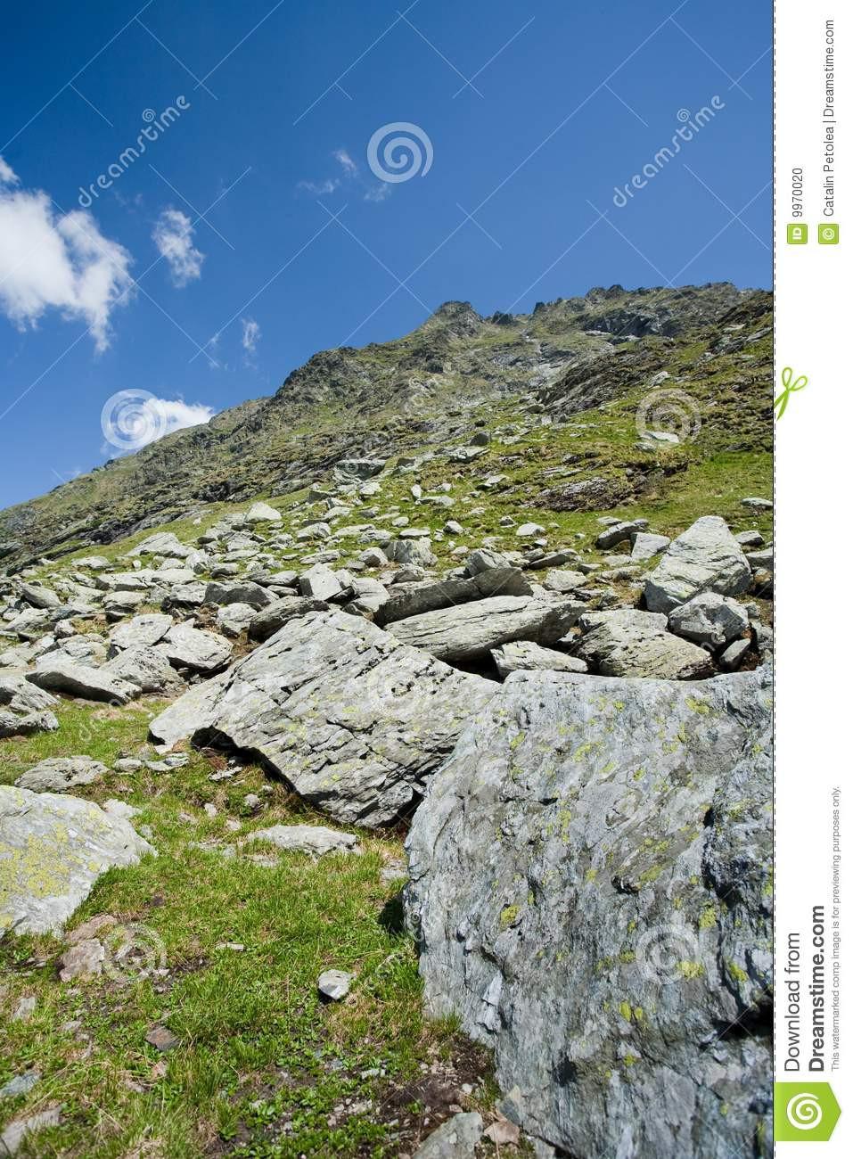 Landschaft In Rumänien  Landschaft In Den Fagaras Bergen Rumänien Stockfoto