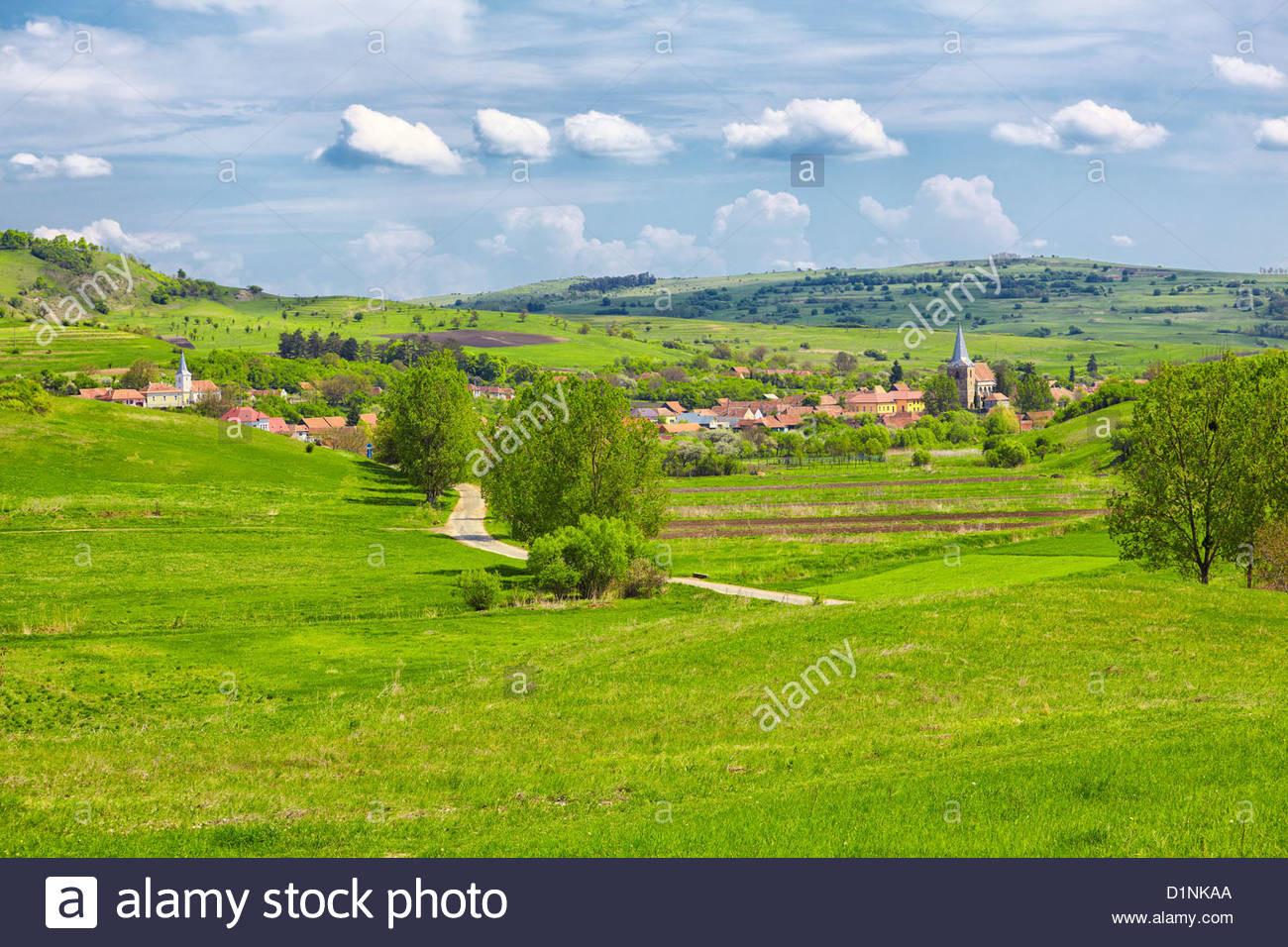 Landschaft In Rumänien  Landschaft in der siebenbürgischen Landschaft in das Dorf
