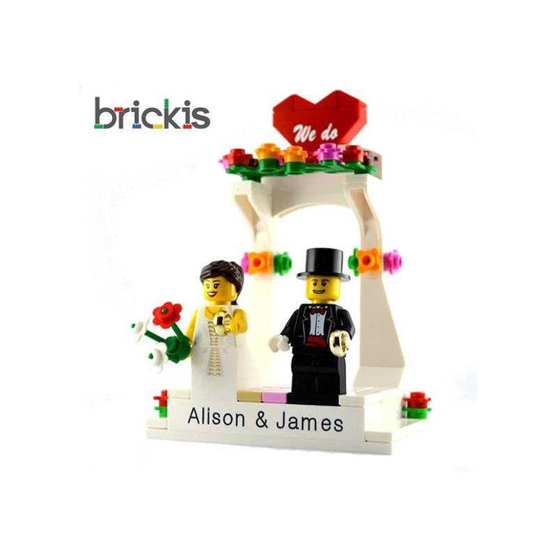 Lego Hochzeit  Personalisierte LEGO Hochzeit Kuchen Figur Set