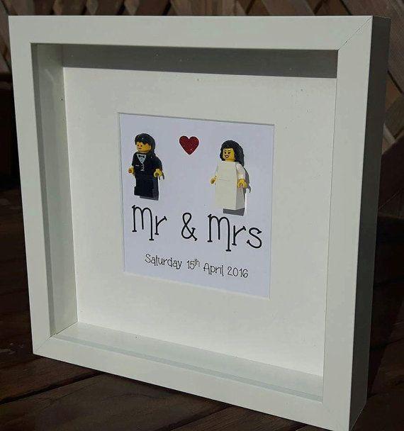 Lego Hochzeit  Personalised Lego Wedding Frame